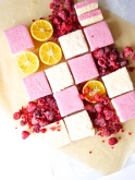 raspberry lemon drop marshmallows