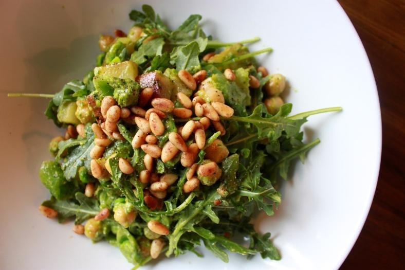 Pesto Potato Salad with Arugula