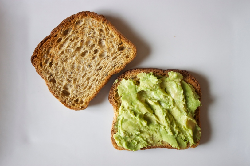 Mashed Avocado on Toasted Bread