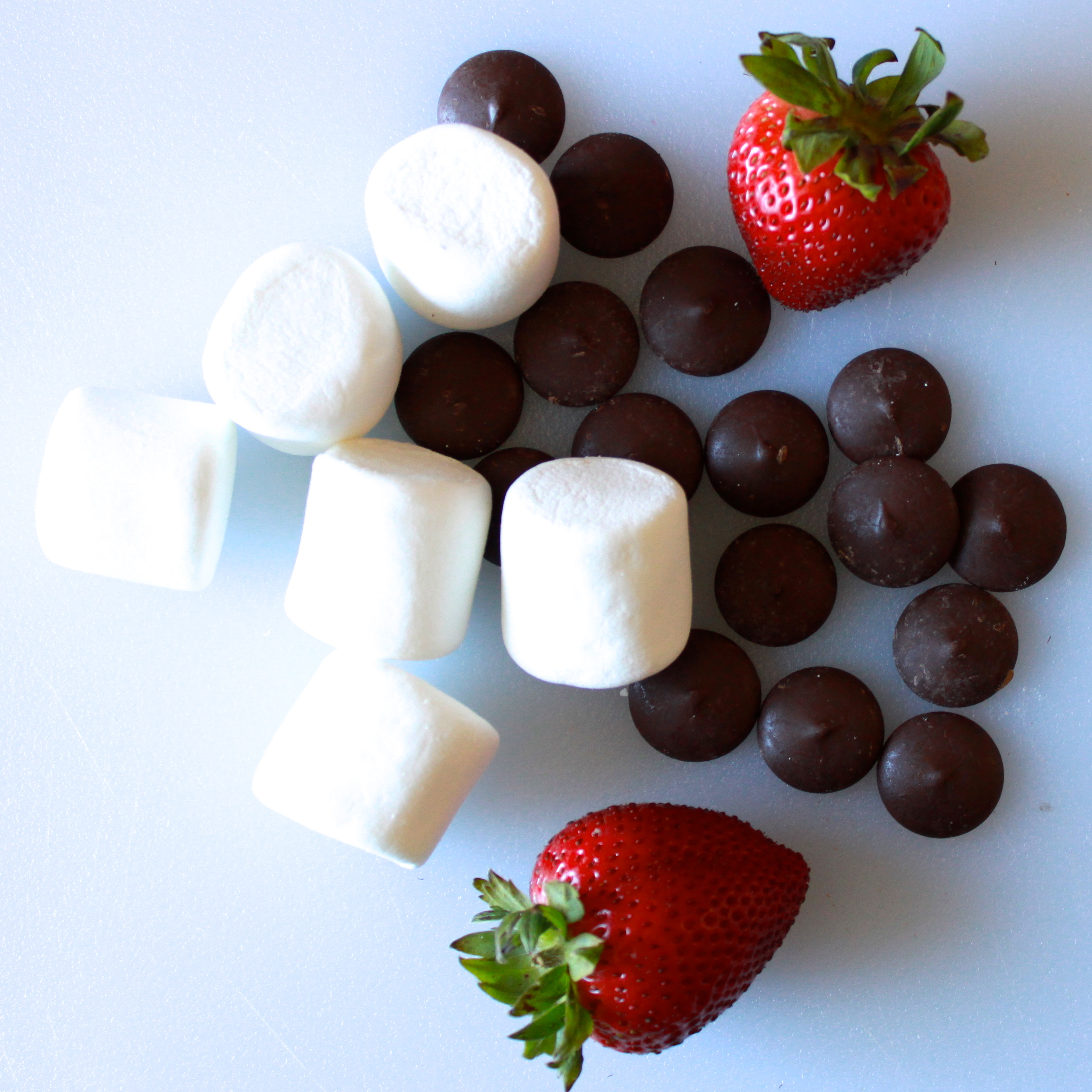 Chocolate-Covered Marshmallows with Strawberry Hats | Pine and Crave
