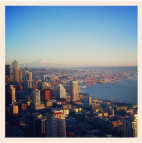 My city! Can you even handle this view from the Space Needle?!