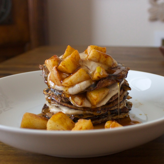 Apple-Cinnamon French Toast Pancakes
