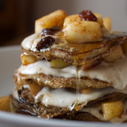 Apple Cinnamon French Toast Pancakes