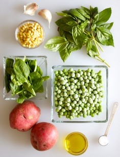 Pea Pesto Ingredients