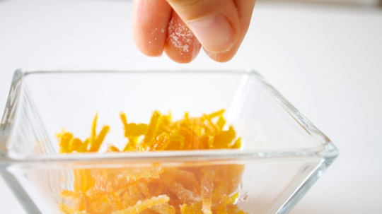 Candied Orange Zest