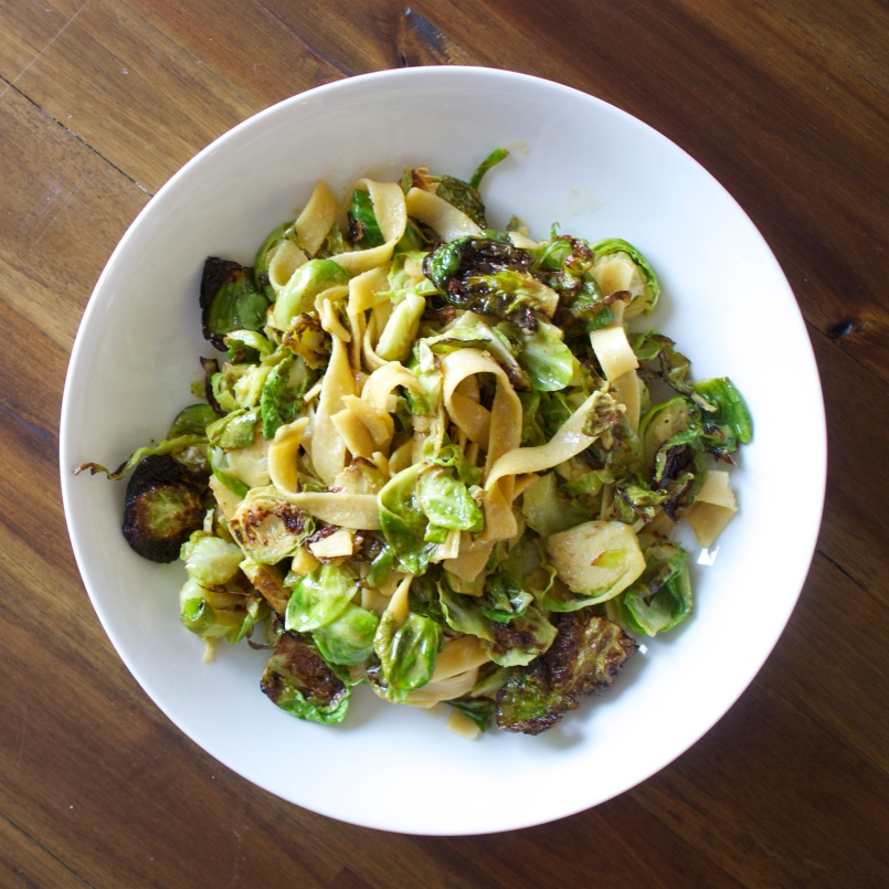 Brussels Sprouts Fettuccine
