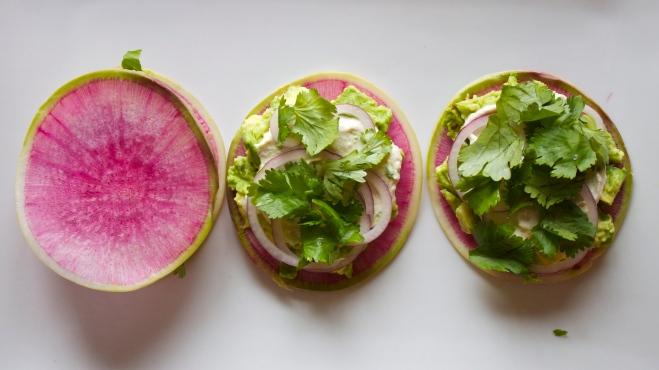 Watermelon Radish Ravioli