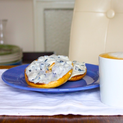 Blueberry Lavender Cashew Cream Cheese