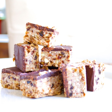 Chocolate Coconut Freezer Bars