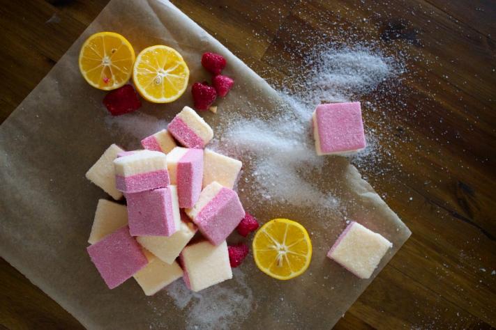 Sugared Raspberry Lemondropmallows