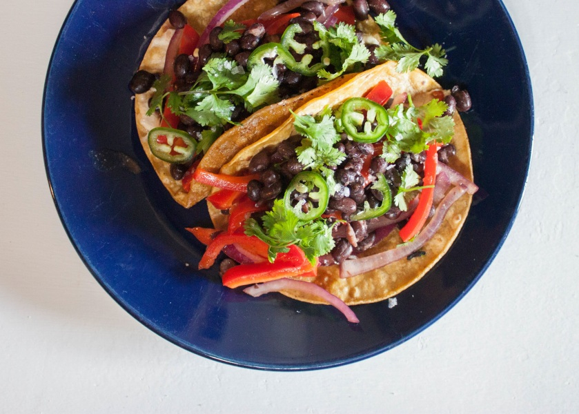 Easiest Black Bean Tacos Ever